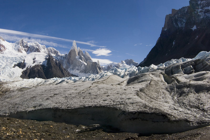Cerro-Torre's glacier stock photography