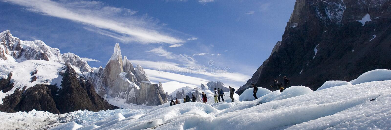 Cerro-Torre's glacier. Cerro-torre area (los glasiares national park stock photography