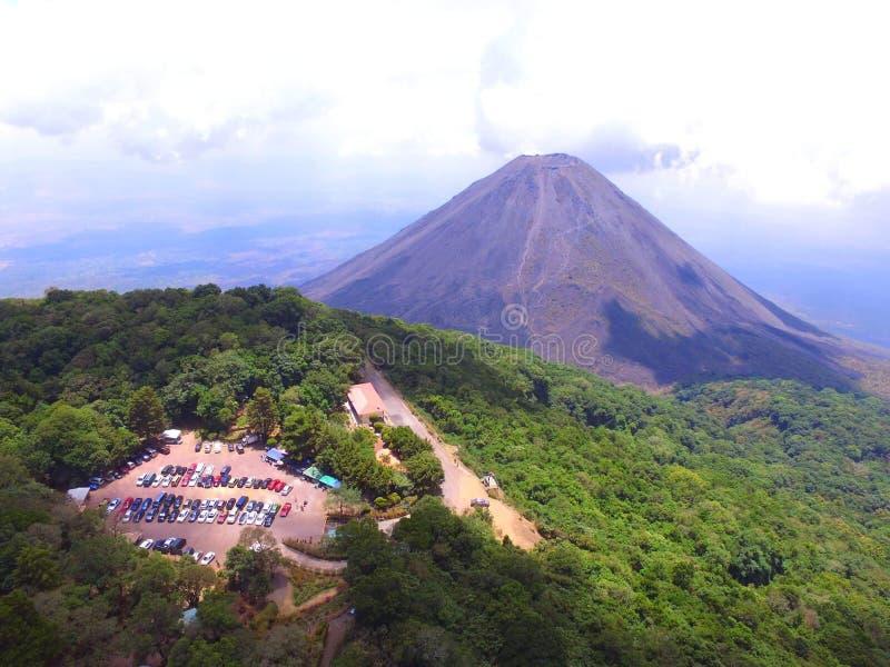 Cerro Verde- Izalco wulkan obrazy stock