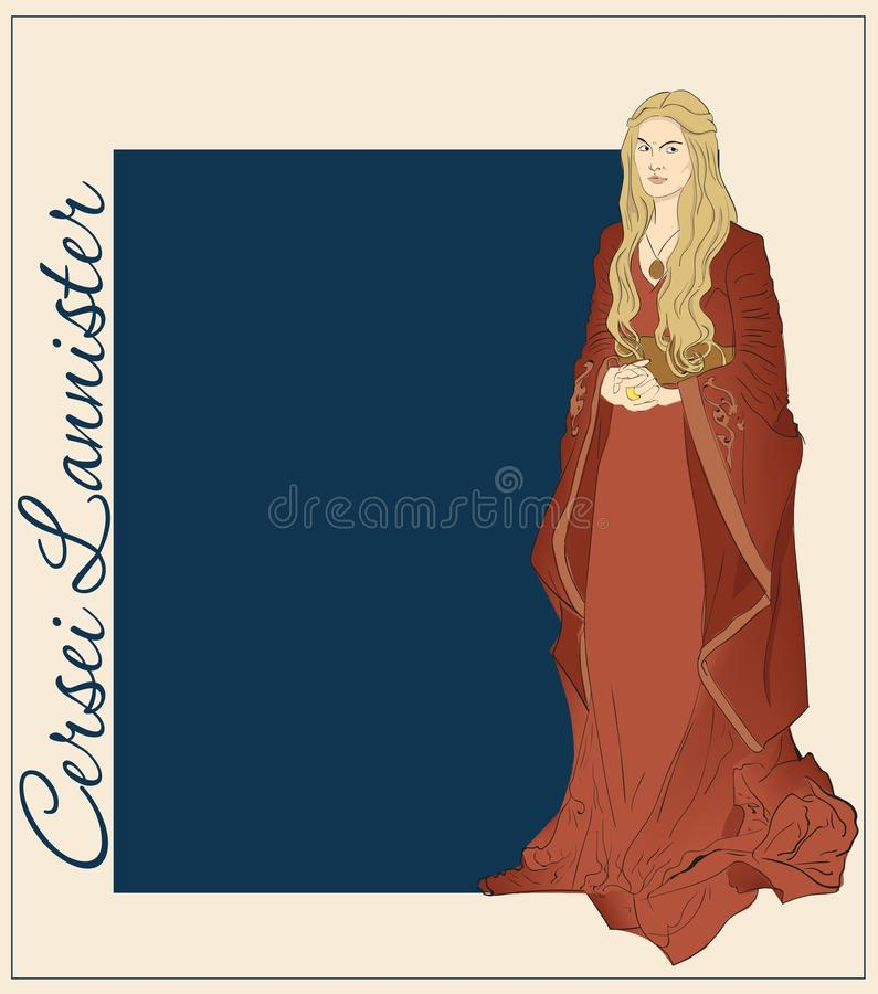 Cersei Lannister stock images