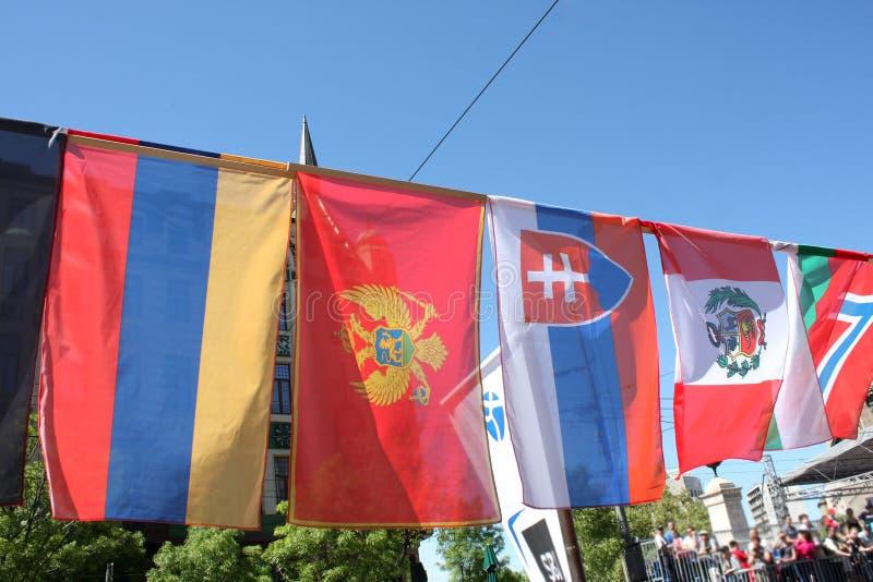 Certains europen des drapeaux photo libre de droits