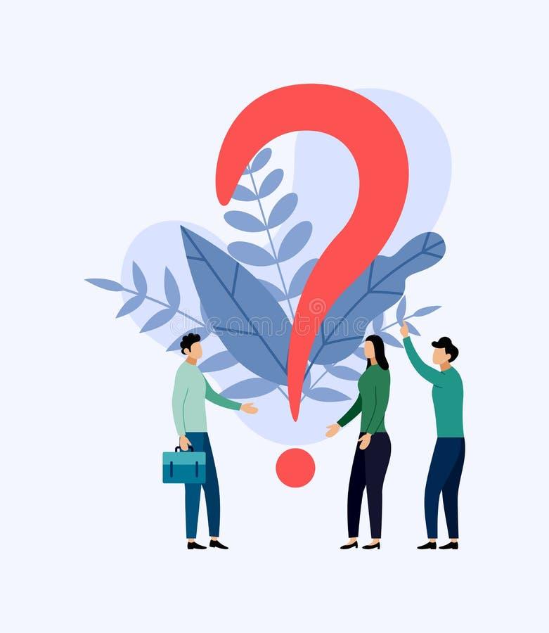 Certains recherchent des questions, concept d'affaires illustration de vecteur