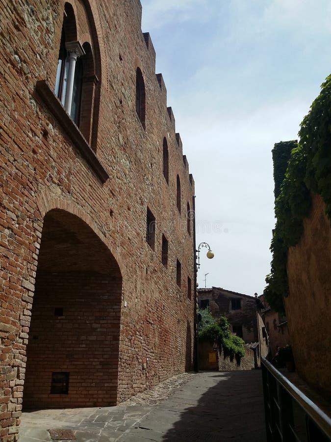 Certaldo, destination italienne dans Tuscania images libres de droits