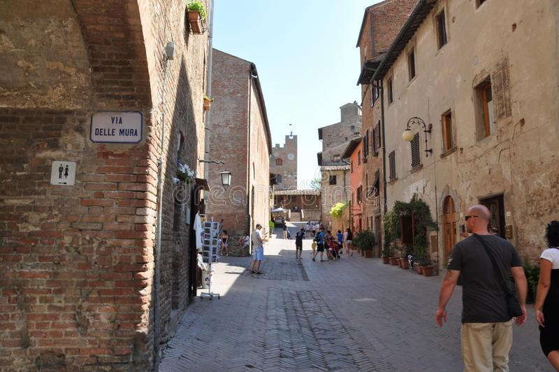 Certaldo en Toscane Italie photos libres de droits