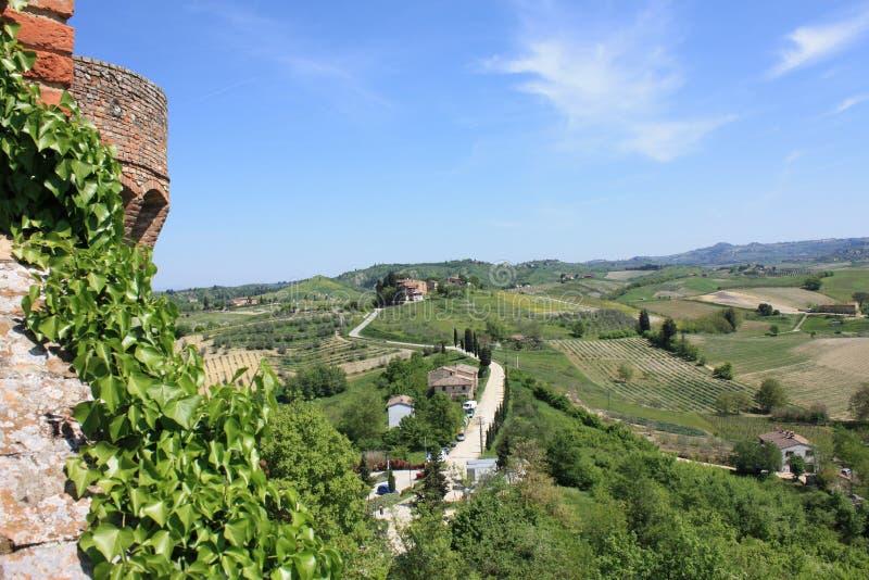 Certaldo Italië op Sunny Day stock foto