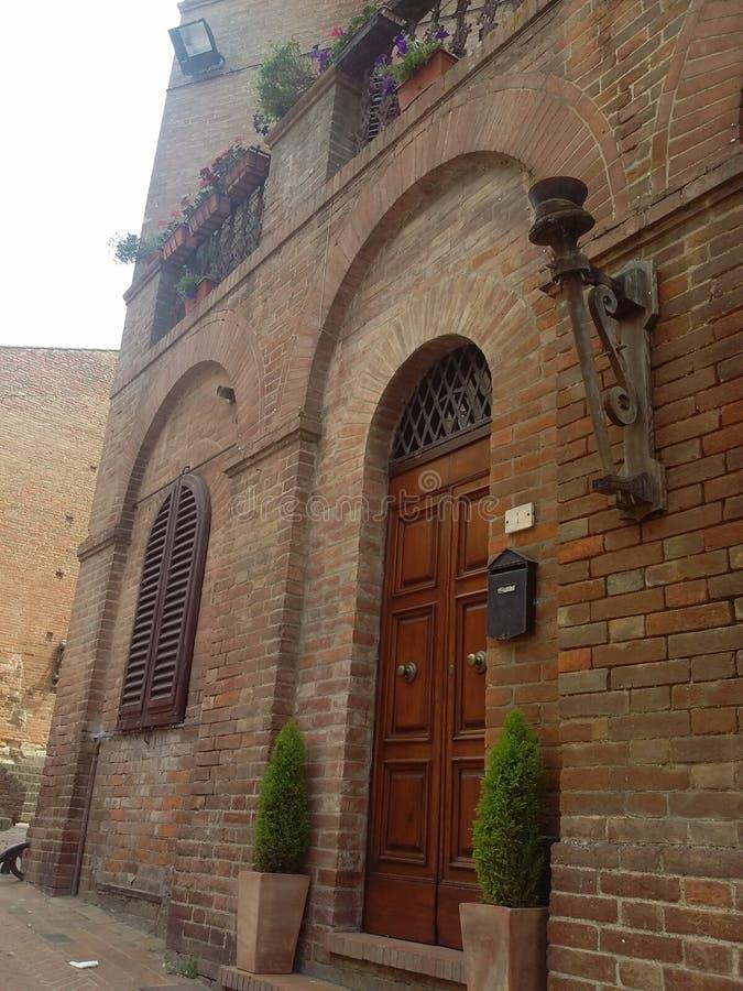 Certaldo, Italiaanse bestemming in Tuscania stock foto