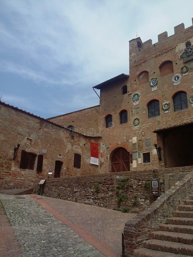 Certaldo, Italiaanse bestemming in Tuscania royalty-vrije stock afbeelding