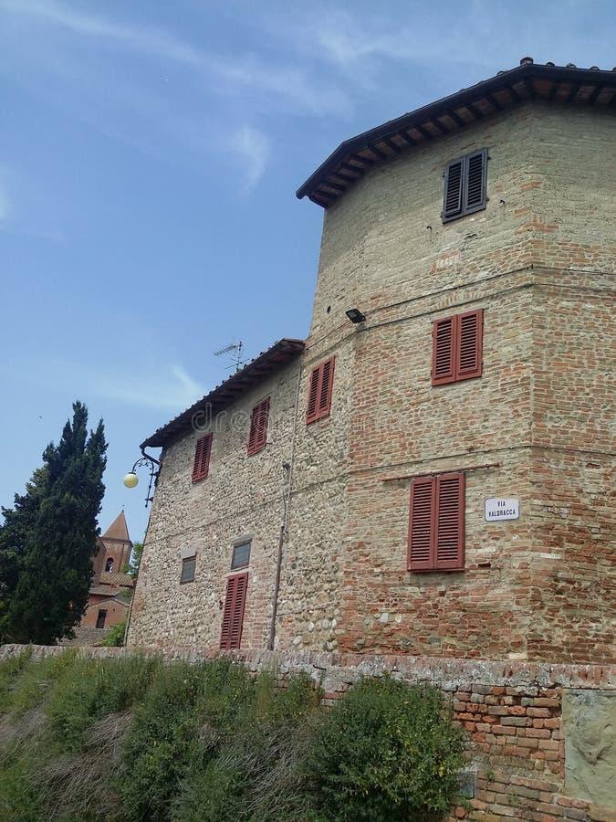 Certaldo, Italiaanse bestemming in Tuscania stock fotografie