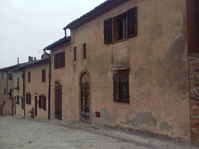 Certaldo, Italiaanse bestemming in Tuscania stock afbeeldingen