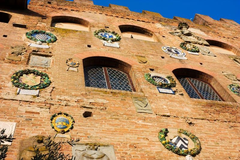 Certaldo - palazzopretorio royalty-vrije stock afbeelding