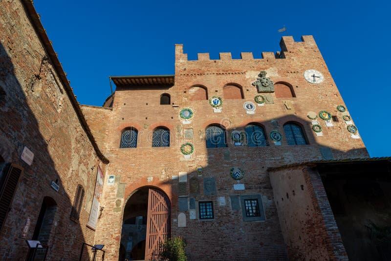 Palazzo Pretorio - Medieval Town of Certaldo Tuscany Italy royalty free stock photo