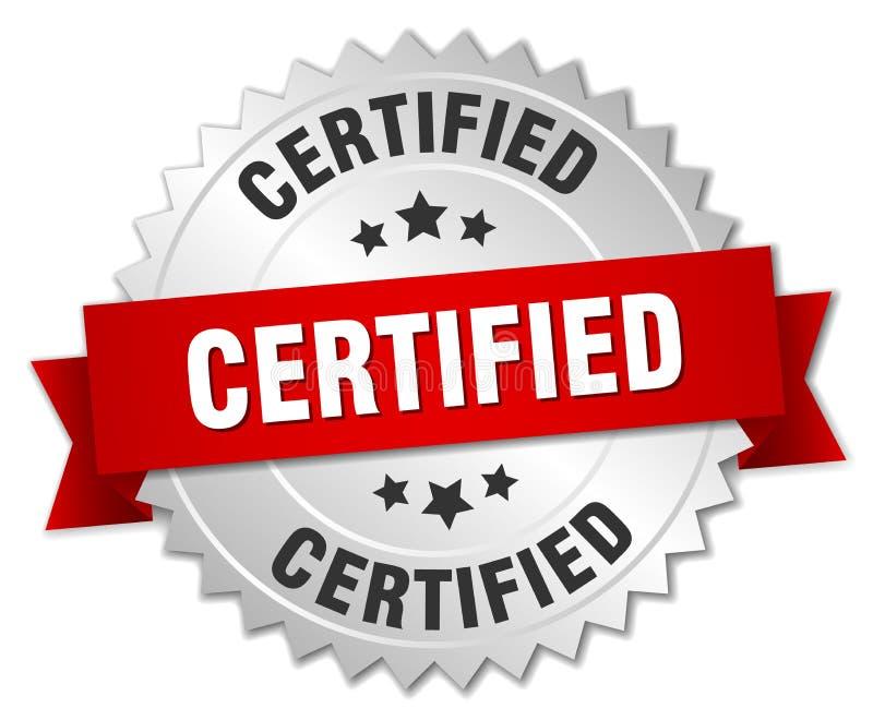 certifié illustration libre de droits