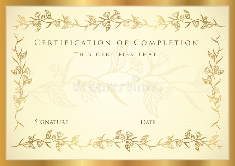 Certificaat royalty-vrije illustratie