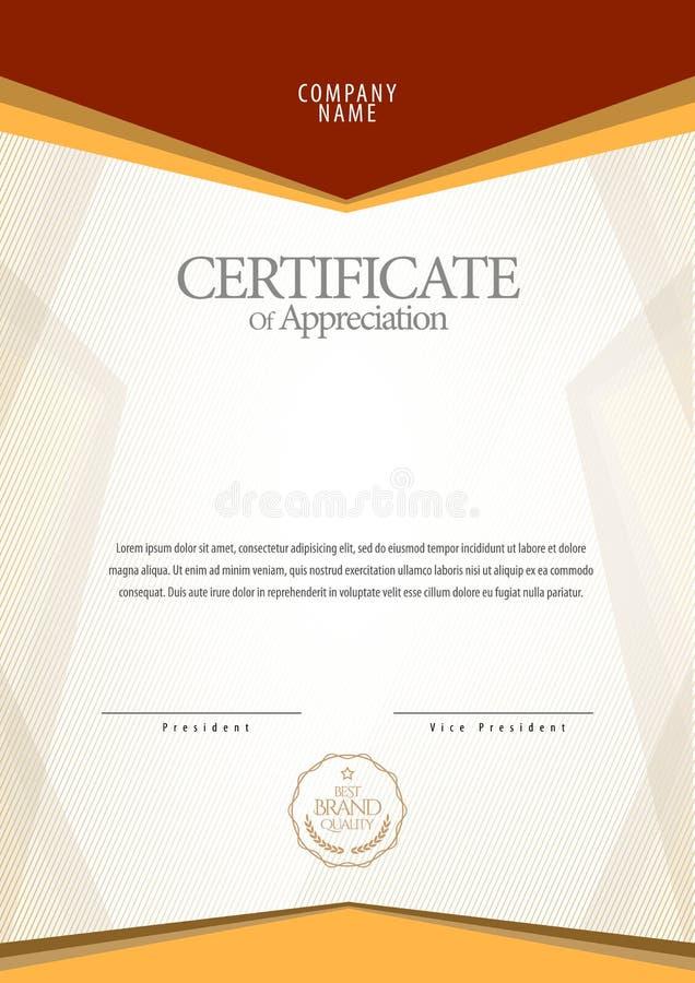certificaat De muntgrens van het malplaatjediploma royalty-vrije illustratie
