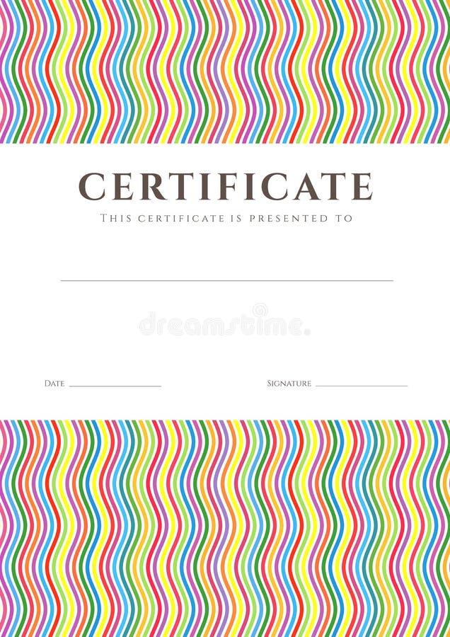 Certificaat/Diploma achtergrondmalplaatje. Patroon royalty-vrije illustratie
