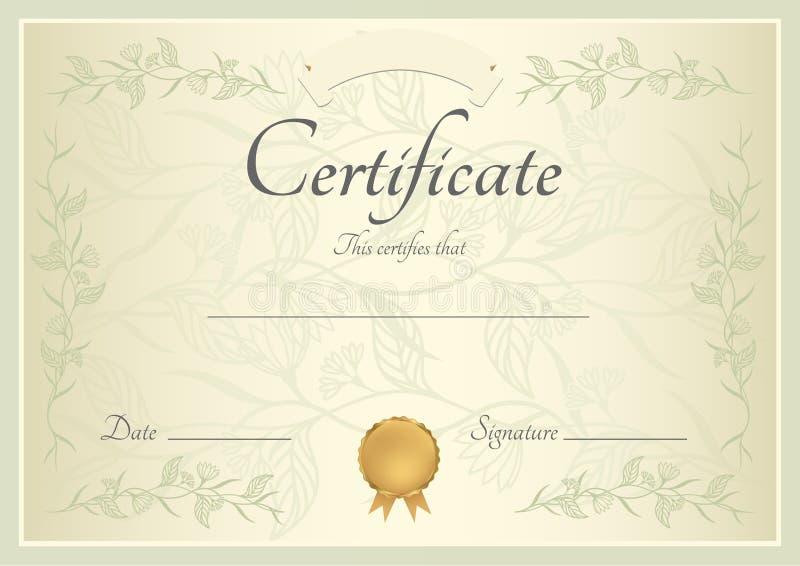 Certificaat/Diplomaachtergrond (malplaatje) royalty-vrije illustratie