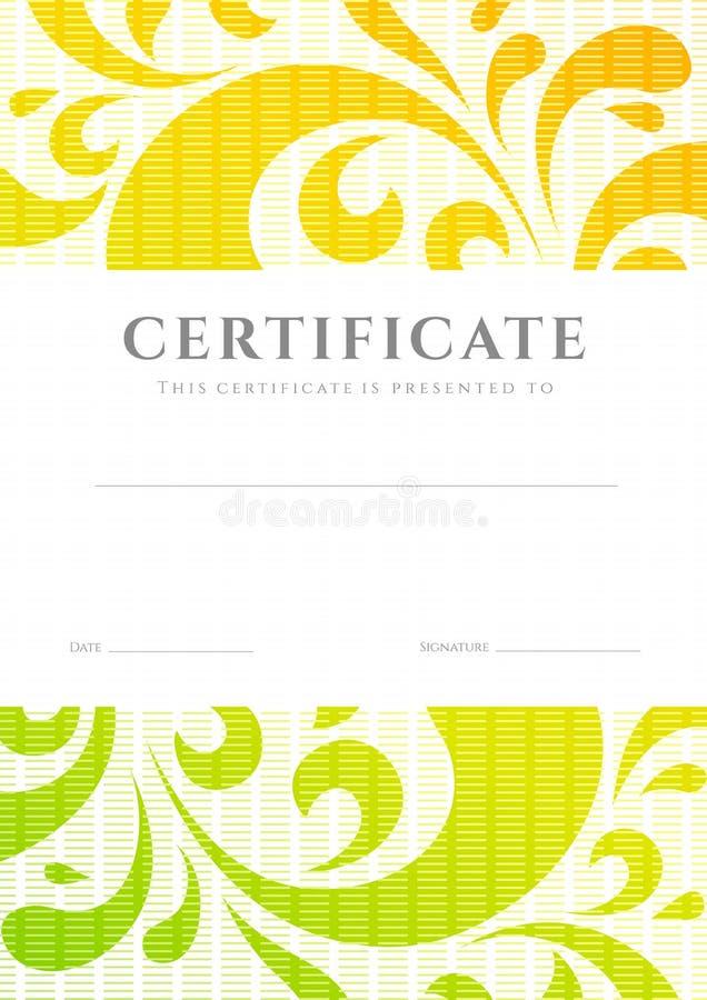 Certificaat/Diplomamalplaatje. Rolpatroon vector illustratie