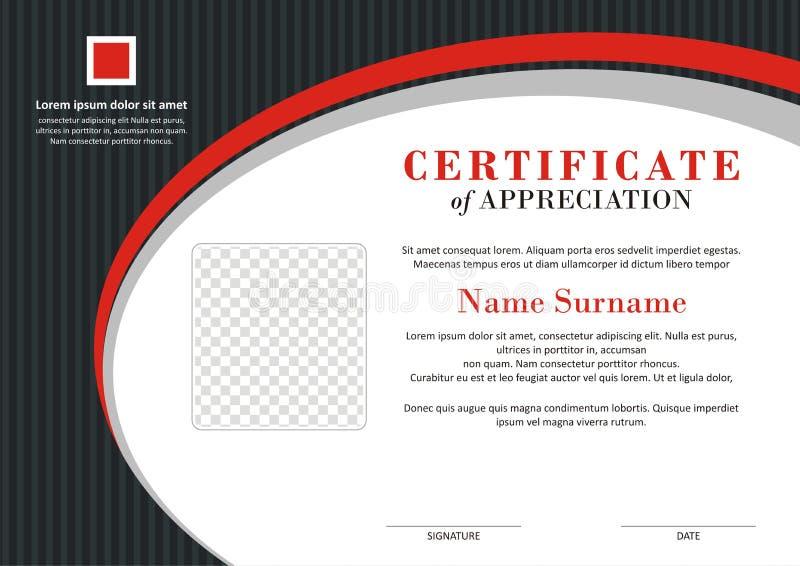 Certificaat - Ontwerp van de Diploma het Moderne Stijl royalty-vrije illustratie