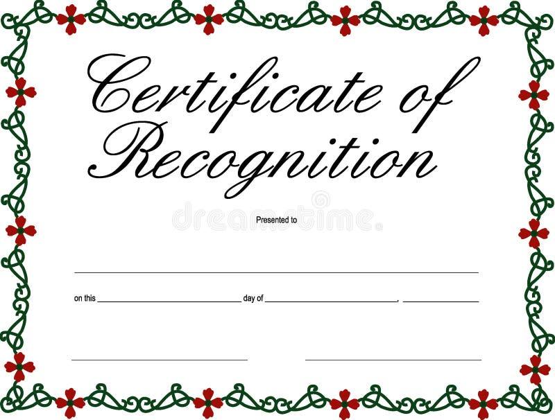 Certificaat van Erkenning vector illustratie