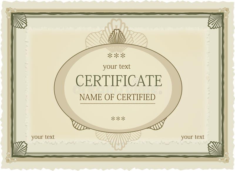 Certificaat van Toekenning stock illustratie
