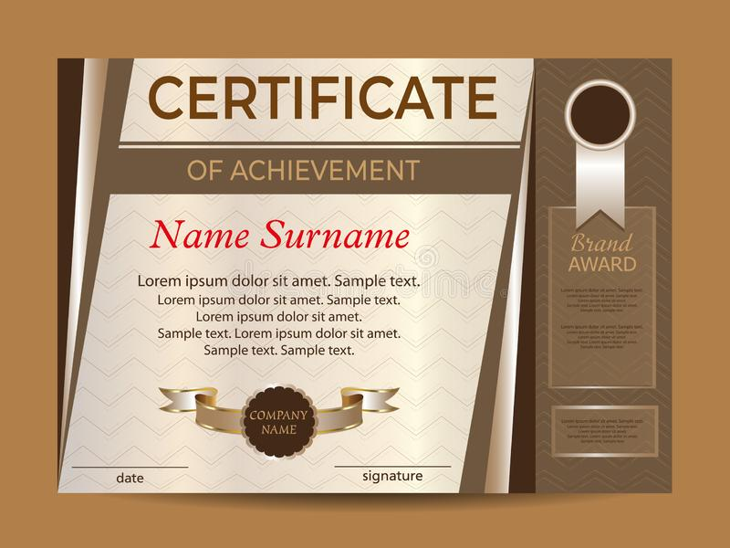 Certificaat van voltooiing of diploma toekenningswinnaar Beloningssport Het winnen van de concurrentie Vector vector illustratie