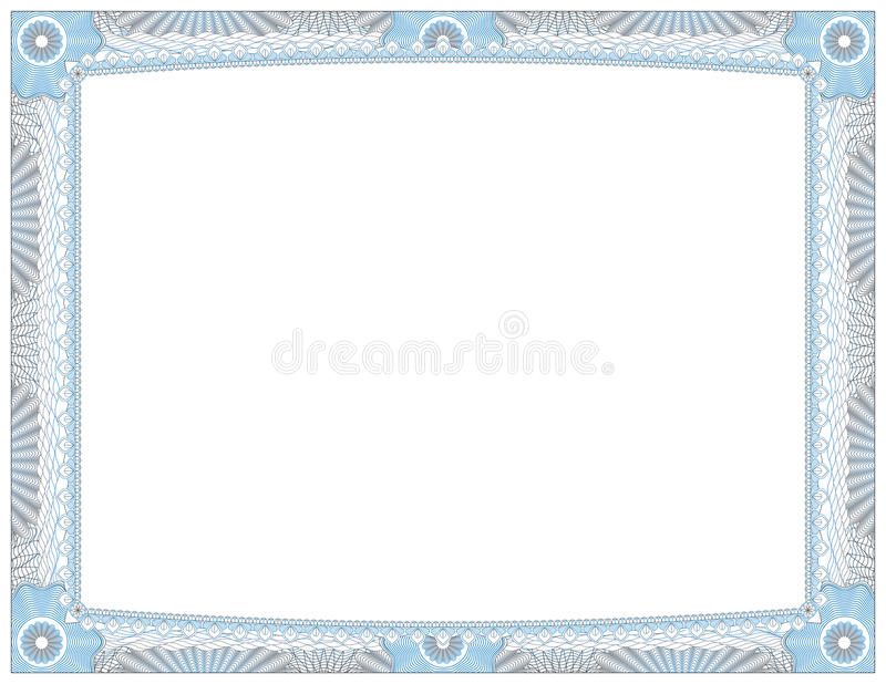 Certificaat van Voltooiingstoekenning royalty-vrije illustratie