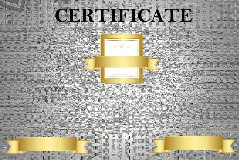 Certificaatmalplaatje met luxe en modern patroon, diploma Vector illustratie royalty-vrije stock foto's