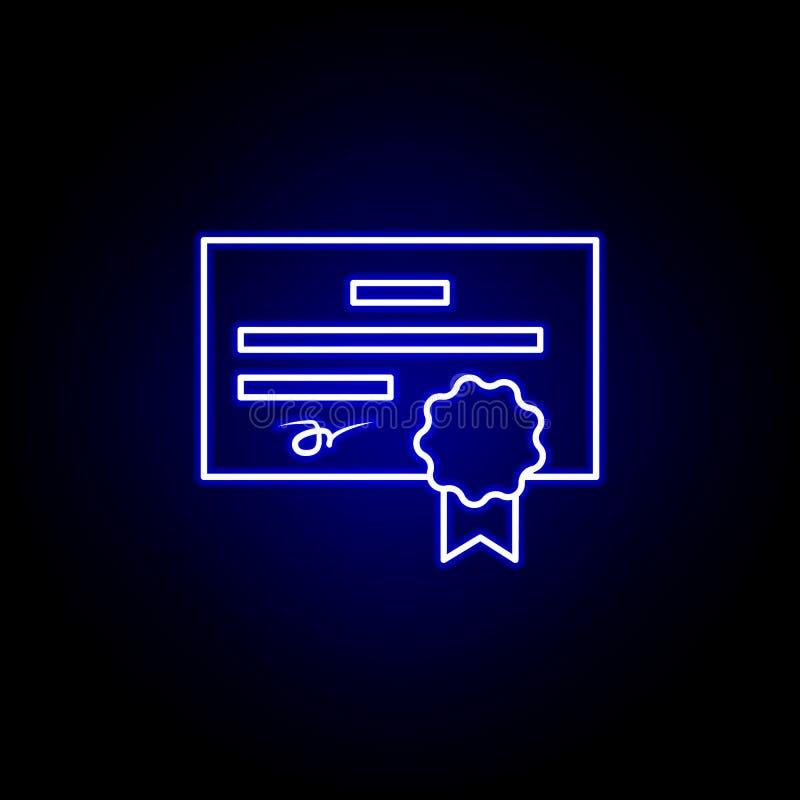Certificado, ícone da licença r Os sinais e os s?mbolos podem ser usados para a Web, ilustração royalty free