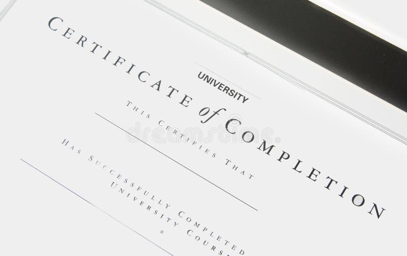 Certificado fotografía de archivo