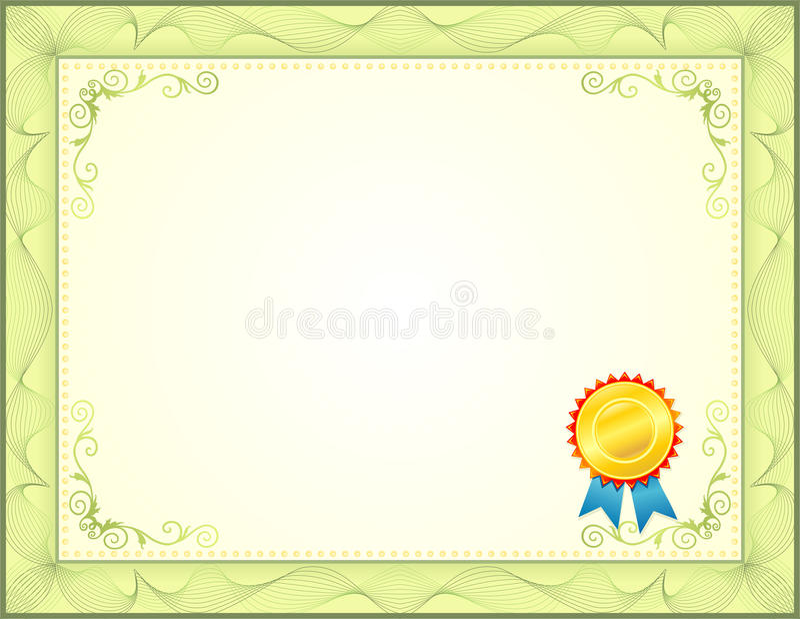 Certificado ilustração stock