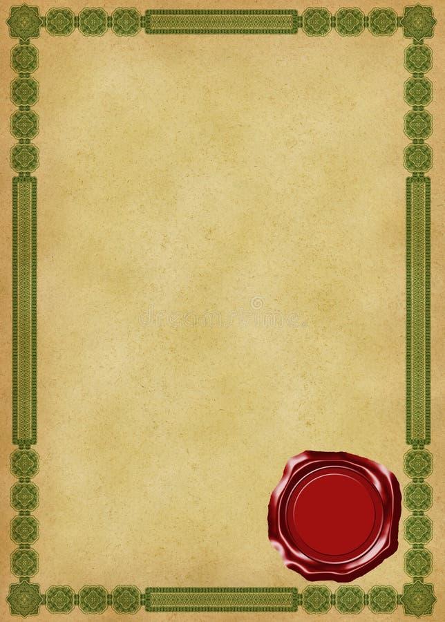 Certificado ilustração royalty free