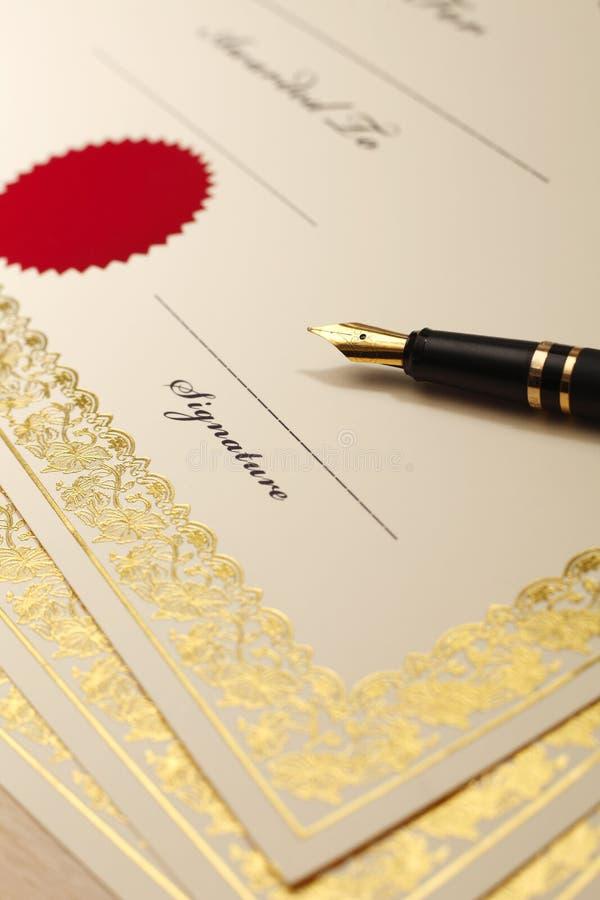 certificado imagens de stock royalty free