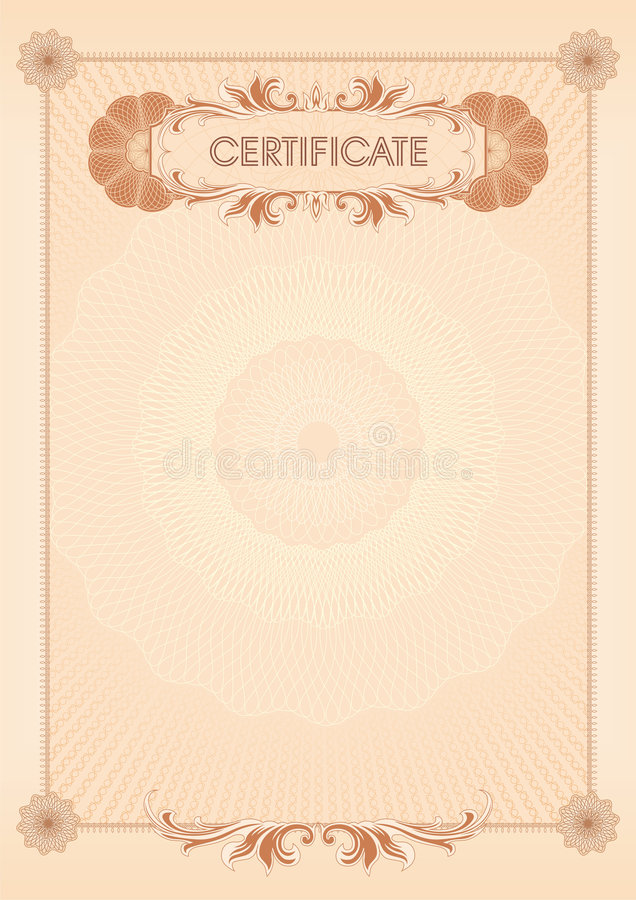 Certificado blank09 ilustración del vector