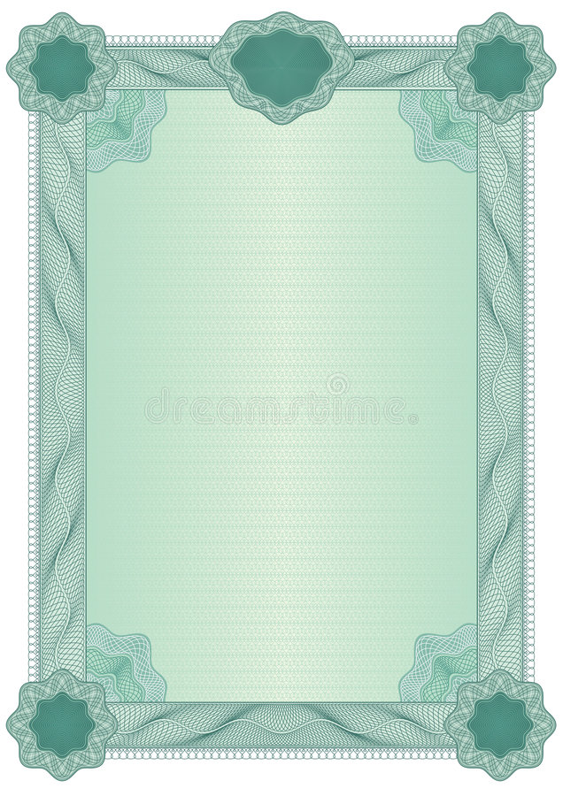 Certificado blank11 stock de ilustración