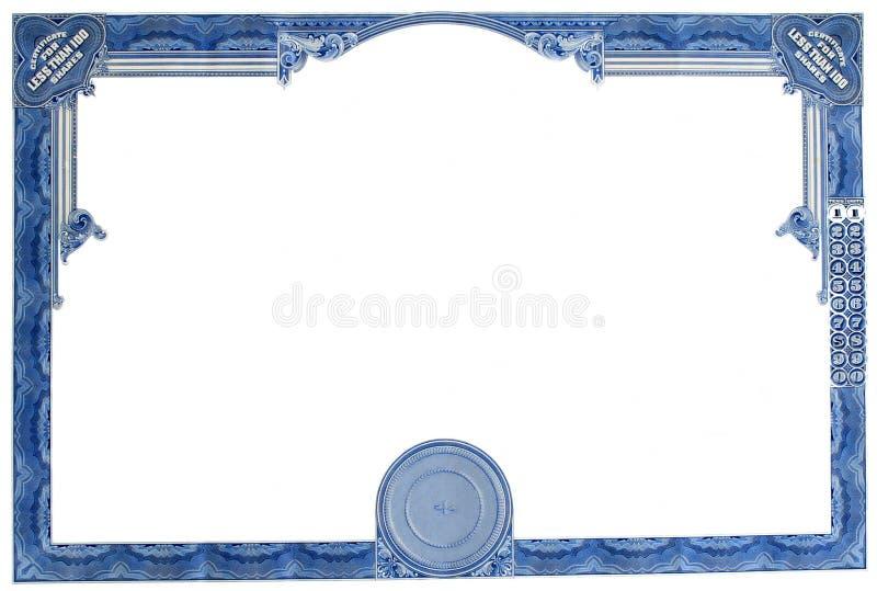 Certificado común vacío fotos de archivo