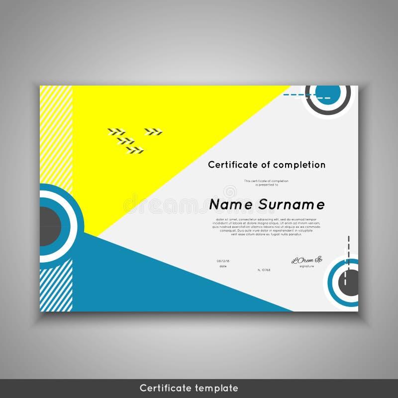 Certificado da conclusão - apreciação, realização, graduação, diploma ou concessão ilustração royalty free