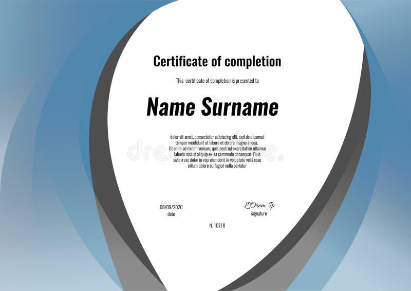 Certificado da conclusão - apreciação, realização, graduação, diploma ou concessão com fundo retro quadrado da textura ilustração royalty free