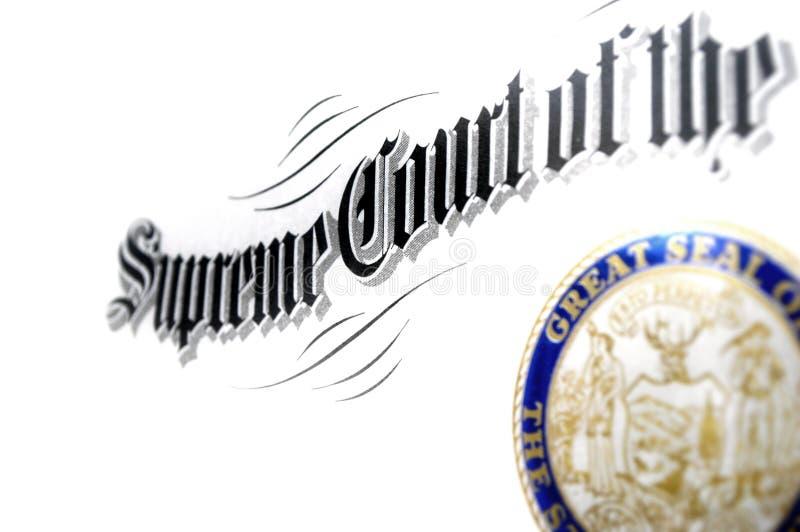 Certificado da corte suprema imagem de stock royalty free