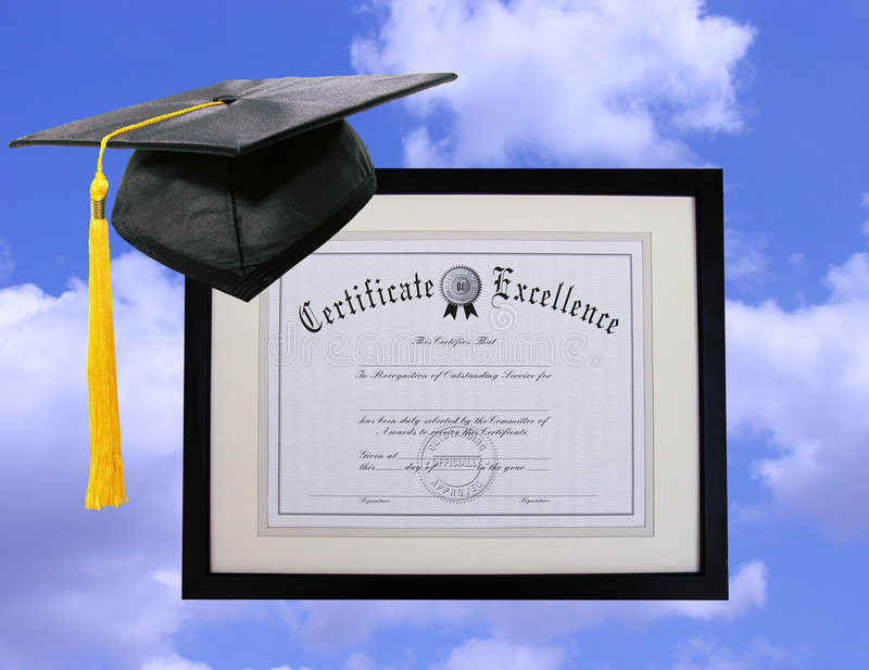 Certificado da excelência imagem de stock