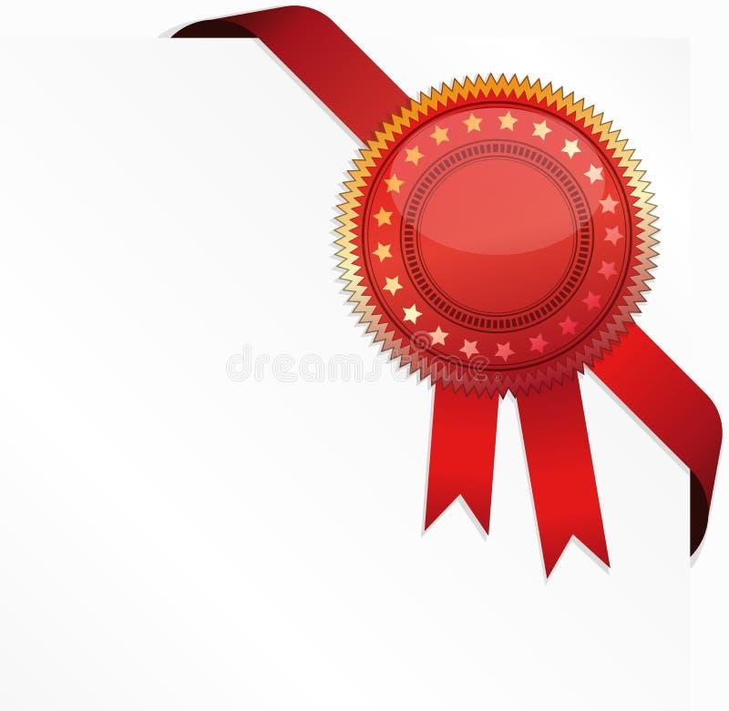 Certificado de canto da fita e da qualidade ilustração royalty free