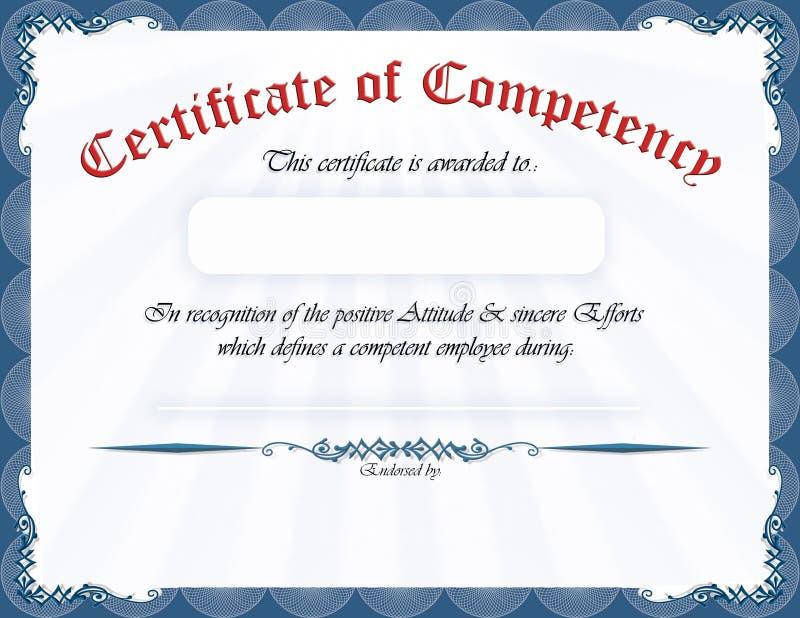 Certificado de capacidad ilustración del vector