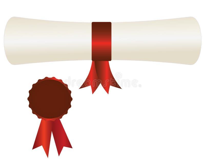 Certificado de excelencia ilustración del vector