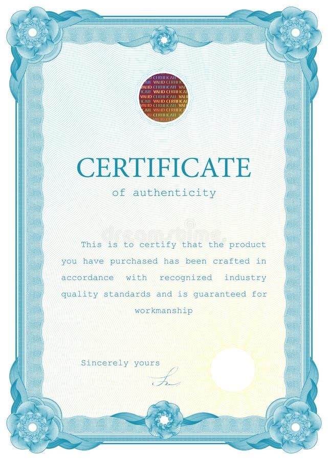 Certificado de la plantilla, moneda, diplomas. libre illustration