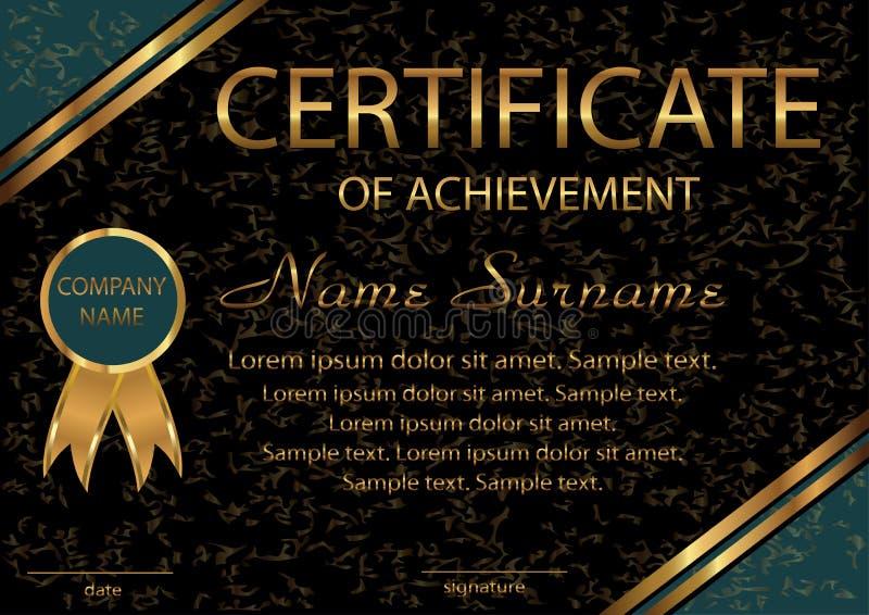 Certificado De Logro O De Diploma Wi Negros Elegantes De La ...