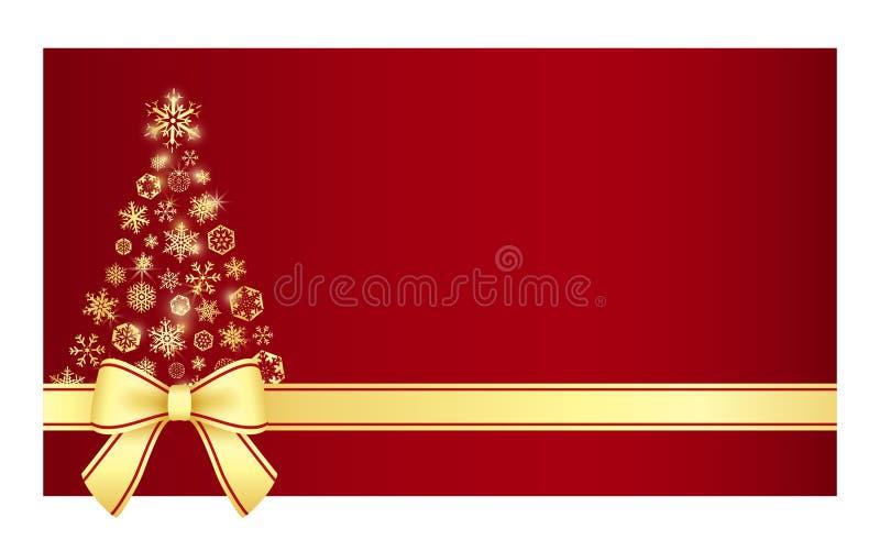 Certificado de lujo de la Navidad con el árbol de navidad c ilustración del vector