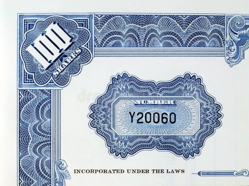 Certificado de partes con número de serie fotos de archivo libres de regalías
