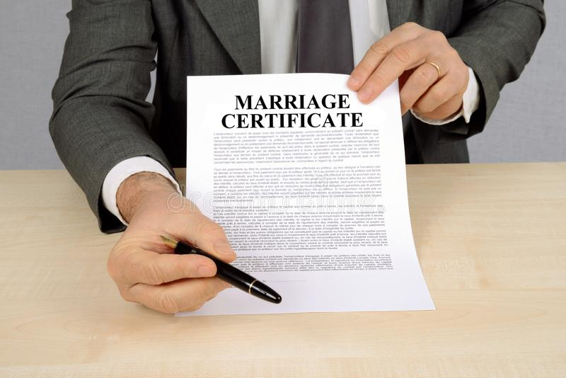 Certificado de uni?o fotografia de stock royalty free