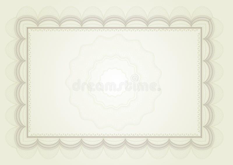 Certificado del diploma libre illustration