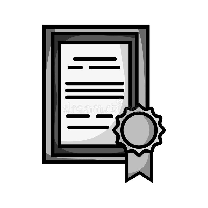 Certificado Del Diploma De La Graduación Del Grayscale Con El Diseño ...