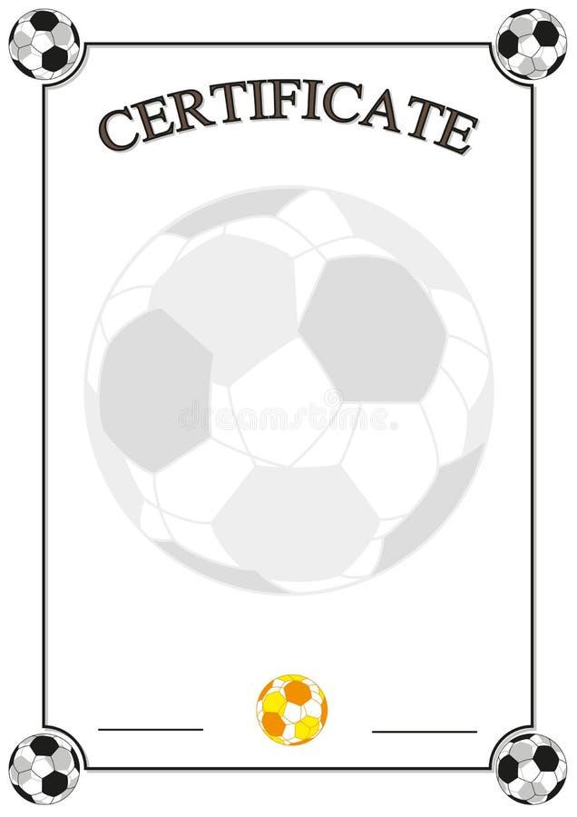 Certificado del fútbol fotografía de archivo